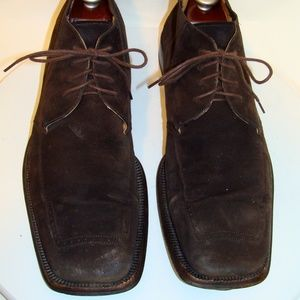 MEZLAN MENS BROWN SUEDE ANKLE BOOTS Size 11M